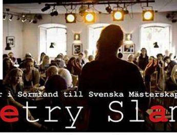 Poetry Slam i hela Sörmland våren 2018