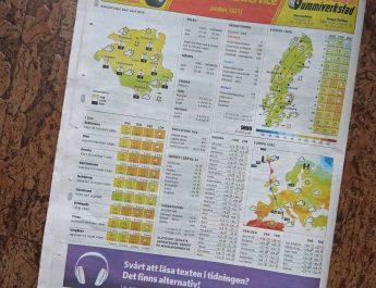 Väderspänning när Eskilstuna-Kuriren släpper väder