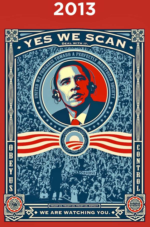 Obama. YES WE SCAN.