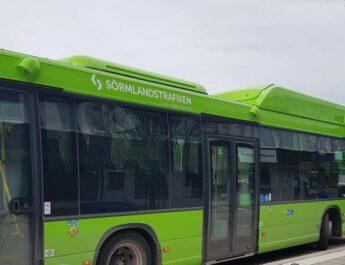 Bussarnas framdörrar öppnas i Eskilstuna