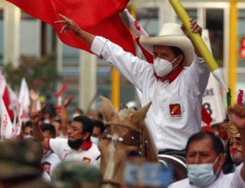 Vänsterns Pedro Castillo nu Perus president!
