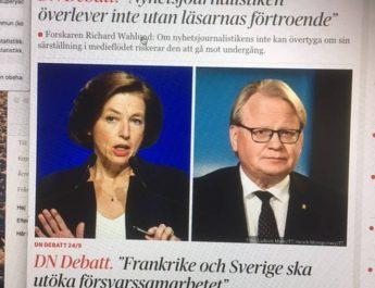 Dagens Nyheter debatt – en falsk debattsida